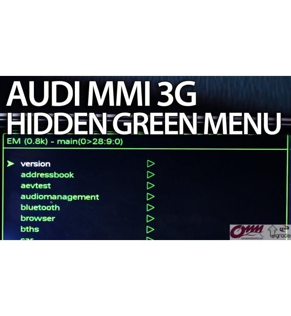 MMI 3G / MMI 3GP Yeşil Menü Aktivasyonu
