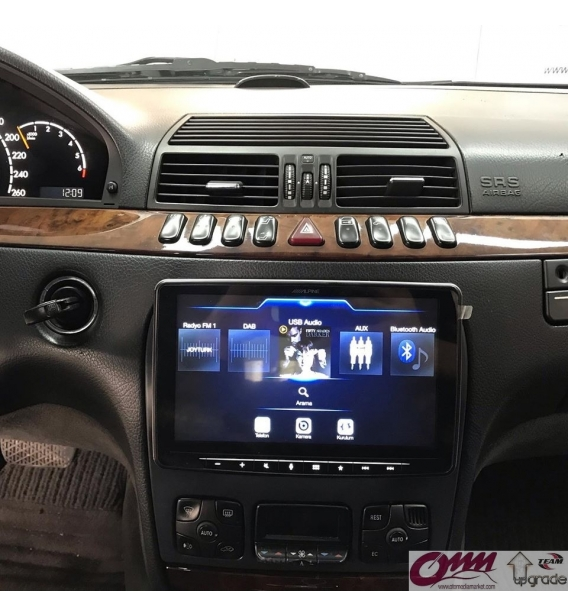 Mercedes S Serisi W220 Alpine ILX-F903D Navigasyon Multimedia Sistemi