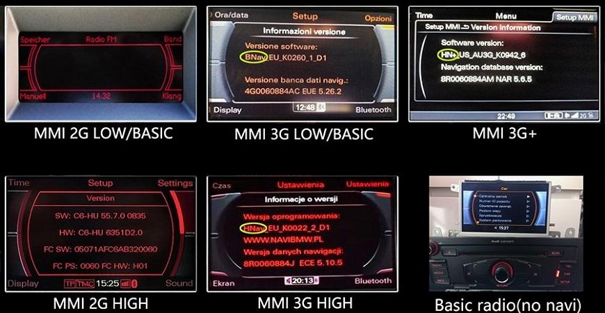 Audi MMI 2G Sistem Teknik Özellikleri