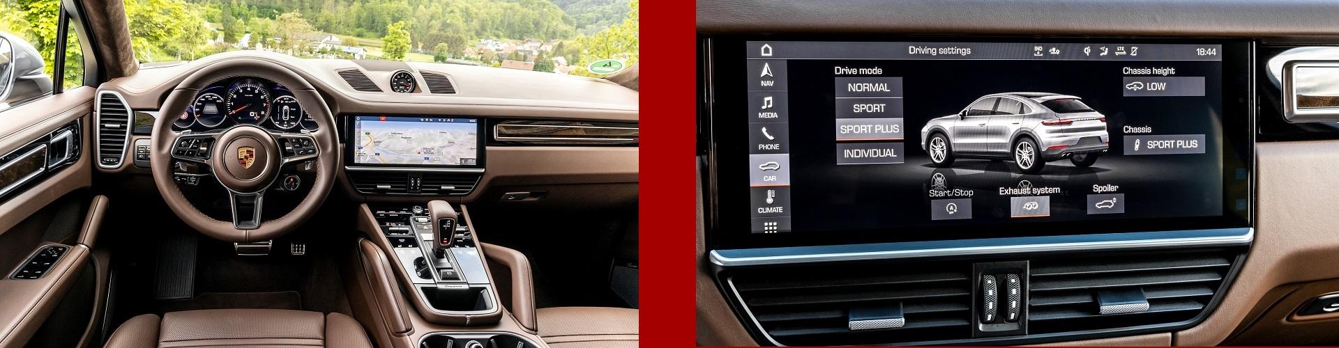 Porsche Navigasyon Multimedia Arka Eğlence Geri Görüş Kamerası Donanım Yükseltme